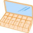 Orange Cosmetics Organizer — Stock Photo