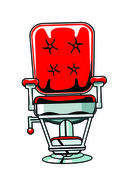 Barber Chair Red — Stockfoto