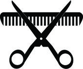 Black Scissors and Comb. — Stock Photo