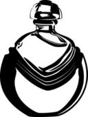 Black and White Vintage Perfume Bottle — Stock Photo