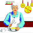 Stock Photo: Granny Chef
