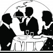 Stock Photo: Dining Out sillouette