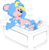 Bear Bathing — Stockfoto