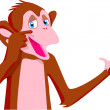 Royalty-Free Stock Photo: Chimp Pointing