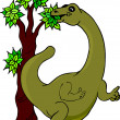 Stock Photo: Dinosaur Eating Tree