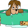 Stock Photo: Dog Bathing