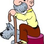 Dog & Owner — Stock Photo