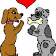 Dogs in Love — Foto Stock