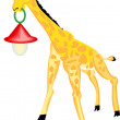 Giraffe with Lantern — Stock Photo