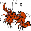 Lobsters Dancing — Foto Stock