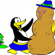 Foto de Stock  : Penguin with Sandman