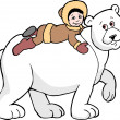 图库照片: Polar Bear & Boy