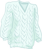 Sweater — Vector de stock