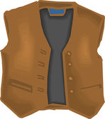 Brown Vest — Stockvector