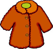 Fur Coat — Stockvector