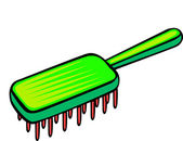 Hairbrush — Vector de stock