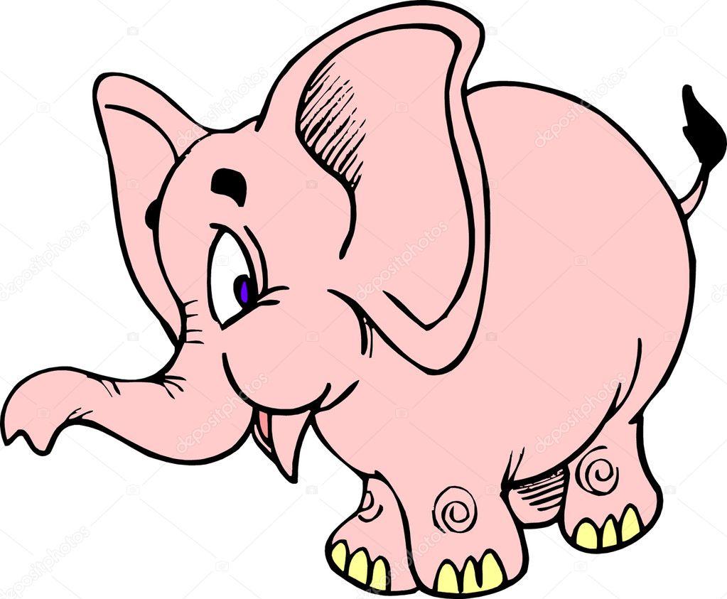 大象头饰彩色简笔画
