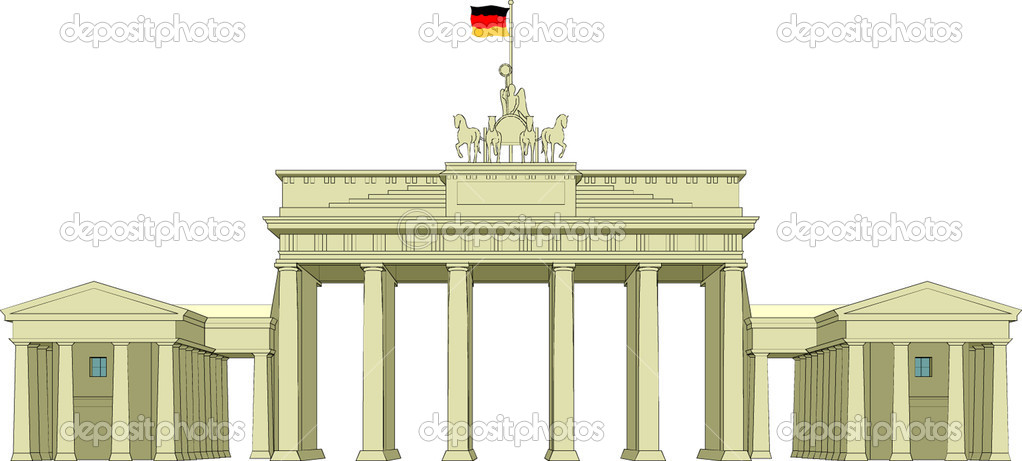 Brandenburg Gate  Stock Vector #4329359
