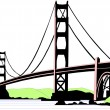 Golden Gate Bridge — Stock Vector