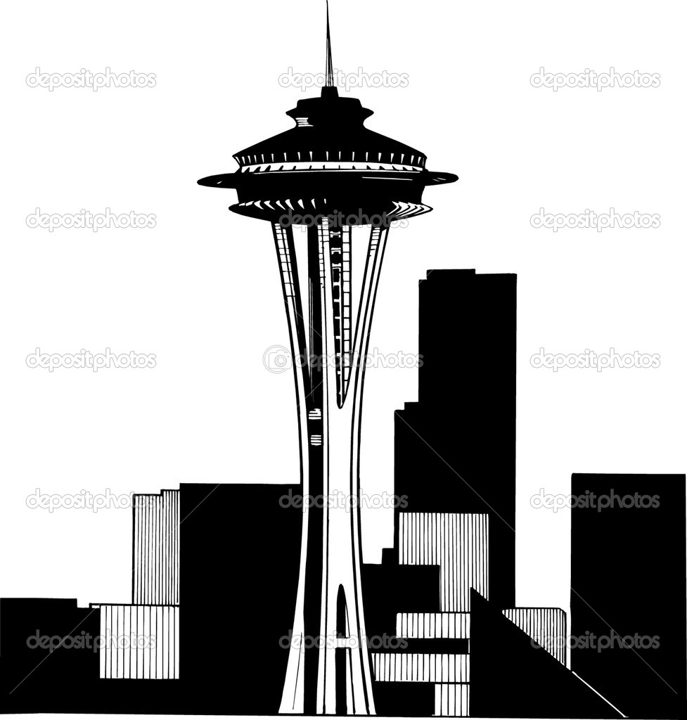clipart of space needle - photo #34