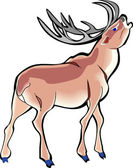 Deer with Large Rack — Stock Vector