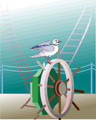 Seagulls — Vector de stock