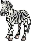 Zebra - Sad — Stock Vector