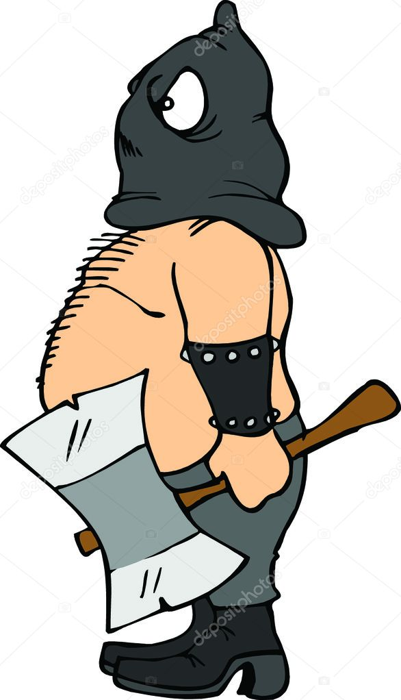 Executioner & Ax — Stock Vector #4403897
