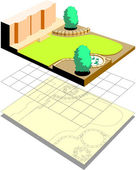 Landscape Model — Stock Vector