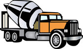 Cement Truck — Stock Vector