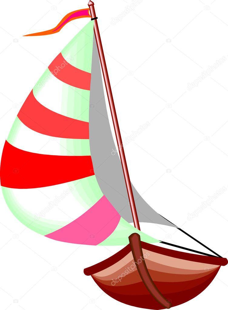 Yawl Boat - Stock Illustration