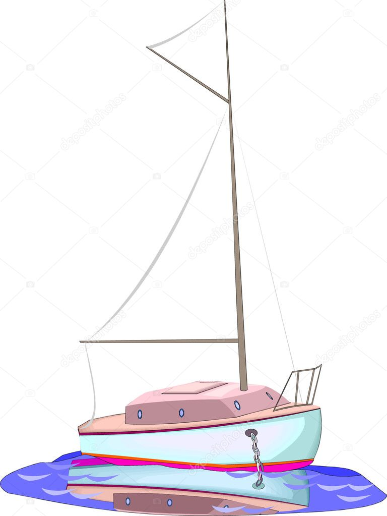 Sailboat  — Stock Vector #4523890