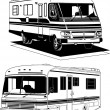 Stock Vector: RV Self-Contained