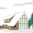 Ski Lodge — Stock Vector