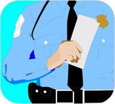 Police Officer Warrants — Stock Vector