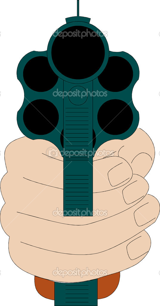 Gun in Hand  — Stock Vector #4596489