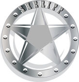 Sheriff Badge — Stock vektor
