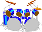 Drum Set — Stock Vector