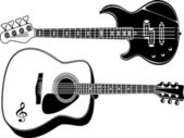 Guitars — Vettoriale Stock
