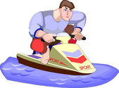 Jet Skiing — Stock Vector