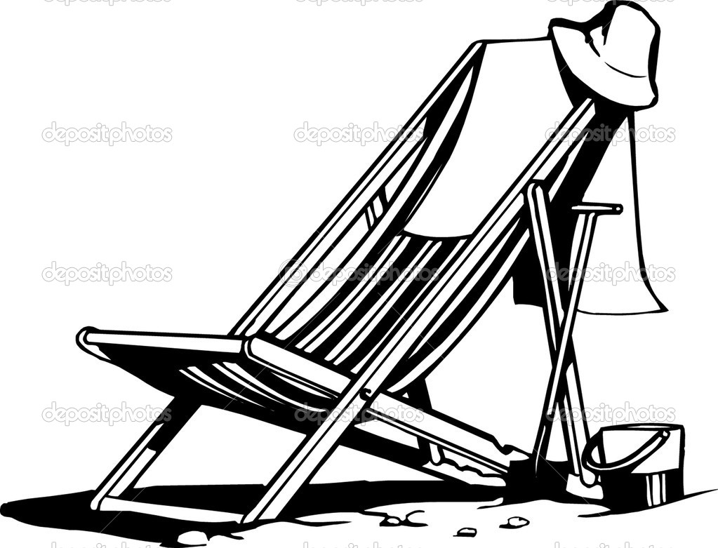 Beach Chair Coloring Pages