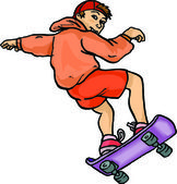 Boy Skateboard Rider — Stock Vector