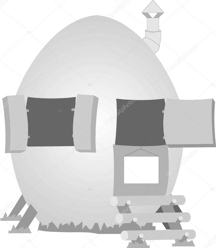 Easter Egg Silhouette Happy easter egg house