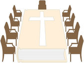 Bible - Meeting Room — Stock Vector