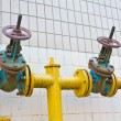 Stock Photo: Natural gas pipeline with valves
