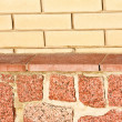 New brick and stone wall texture — Stock Photo #4250722