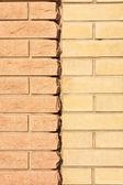 Nouvelle texture de mur de couleur brique deux — Photo