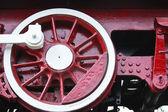 Detalle de rueda locomotora vintage motor de vapor — Foto de Stock