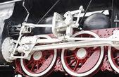 Detalle de ruedas locomotora vintage motor de vapor — Foto de Stock