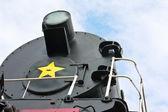 Detail vinobraní parní lokomotiva lokomotiva — Stock fotografie